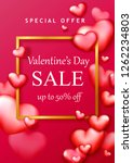 valentine's day sale background ... | Shutterstock .eps vector #1262234803