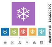 single snowflake flat white...   Shutterstock .eps vector #1262237800