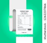 receipt. paper check. invoice... | Shutterstock .eps vector #1262237866