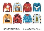 collection of ugly christmas... | Shutterstock . vector #1262240713