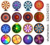 roulette icon set. cartoon set... | Shutterstock .eps vector #1262242123