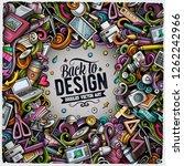 cartoon vector doodles design... | Shutterstock .eps vector #1262242966