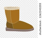 soft winter boot icon. flat... | Shutterstock .eps vector #1262243203