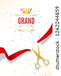 grand opening invitation banner.... | Shutterstock .eps vector #1262244859