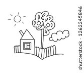 vector house coloring page ... | Shutterstock .eps vector #1262245846