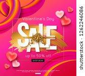 valentines day sale banner... | Shutterstock .eps vector #1262246086