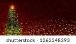 christmas greeting card. free... | Shutterstock . vector #1262248393