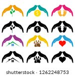 concept of protection and love... | Shutterstock . vector #1262248753