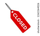red tag with text closed  ... | Shutterstock .eps vector #1262264026