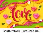 valentines day vector... | Shutterstock .eps vector #1262265103