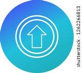 vector go straight ahead icon... | Shutterstock .eps vector #1262266813
