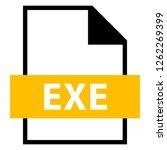 filename extension icon exe...   Shutterstock .eps vector #1262269399