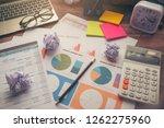 business computer office desk... | Shutterstock . vector #1262275960
