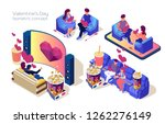 set of people on dating.... | Shutterstock .eps vector #1262276149