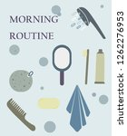 morning and evening cleansing... | Shutterstock .eps vector #1262276953