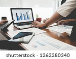 concept of young business... | Shutterstock . vector #1262280340