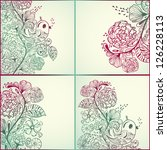 Vector Spring Cards With Floral ...