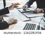 finance manager meeting... | Shutterstock . vector #1262281936