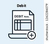 debit notes icon | Shutterstock .eps vector #1262286079