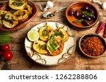 homemade bruschetta with... | Shutterstock . vector #1262288806