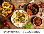 homemade bruschetta with... | Shutterstock . vector #1262288809