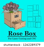laser cutting box with drawer...   Shutterstock .eps vector #1262289379