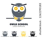 vector logo template with owl... | Shutterstock .eps vector #1262290183