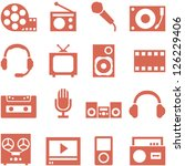 icon set of gadgets and devices ... | Shutterstock .eps vector #126229406