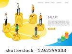 salary landing page website... | Shutterstock .eps vector #1262299333