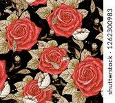 retro styles roses seamles...   Shutterstock .eps vector #1262300983
