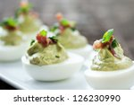 Fancy Green Deviled Egg...