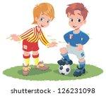 kids football | Shutterstock .eps vector #126231098