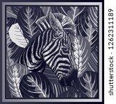 animal print. head of african... | Shutterstock .eps vector #1262311189