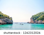 exotic sea view. paleokastritsa ... | Shutterstock . vector #1262312026