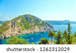 exotic sea view. paleokastritsa ... | Shutterstock . vector #1262312029