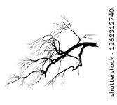 silhouette of an oak branch...   Shutterstock .eps vector #1262312740