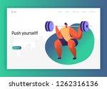 weightlift bodybuilding...   Shutterstock .eps vector #1262316136