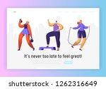 gym fitness character landing...   Shutterstock .eps vector #1262316649