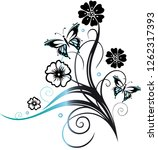 floral and filigree tendril... | Shutterstock .eps vector #1262317393