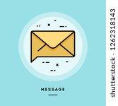 message  flat design thin line... | Shutterstock .eps vector #1262318143