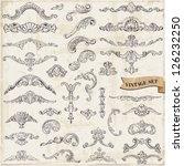 vector set  calligraphic design ... | Shutterstock .eps vector #126232250