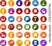 color back flat icon set   baby ... | Shutterstock .eps vector #1262324746