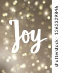 christmas card. joy hand drawn... | Shutterstock .eps vector #1262329846