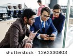 group of three indian... | Shutterstock . vector #1262330803