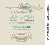 wedding invitation card  ... | Shutterstock .eps vector #126233888