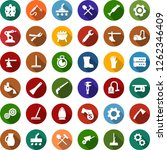 color back flat icon set  ... | Shutterstock .eps vector #1262346409