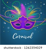 mardi gras   fat tuesday... | Shutterstock .eps vector #1262354029