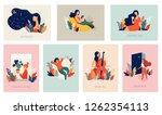 international women's day.... | Shutterstock .eps vector #1262354113