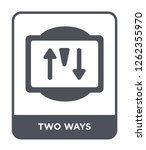 two ways icon vector on white... | Shutterstock .eps vector #1262355970