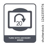 turn with advisory  speed icon... | Shutterstock .eps vector #1262355976
